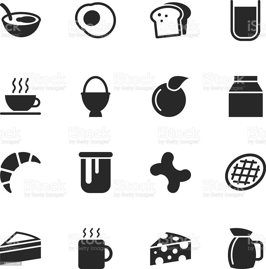 Breakfast Silhouette Icons vector art illustration