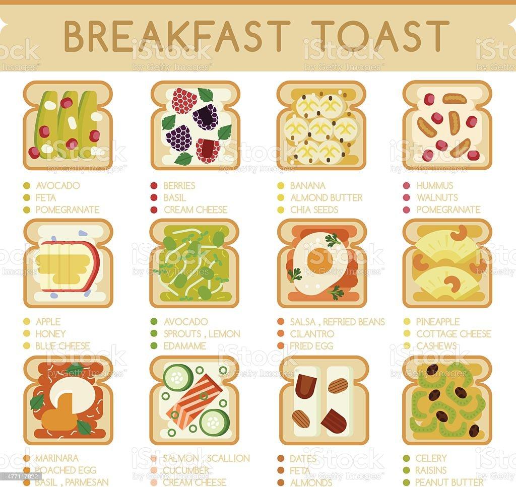 Breakfast Toast vector art illustration