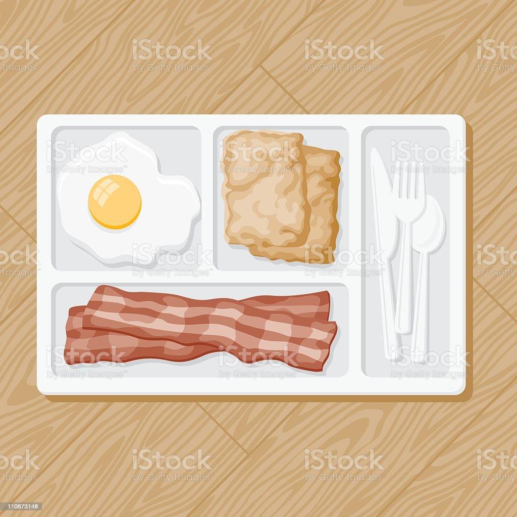 TV Breakfast vector art illustration