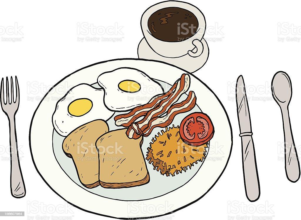 Breakfast vector art illustration