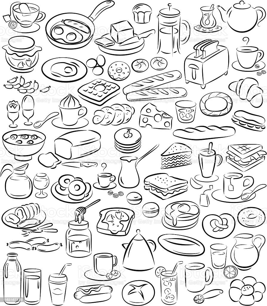 breakfast royalty-free stock vector art