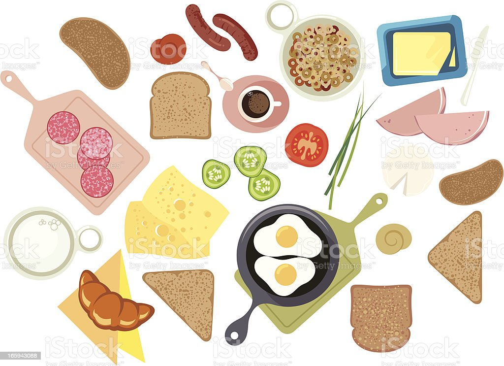 Breakfast. vector art illustration