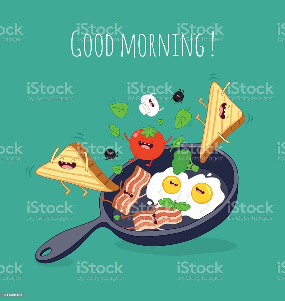 Breakfast vector art illustration