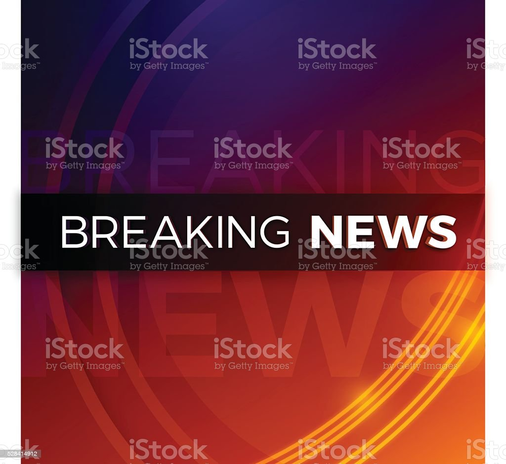 Breaking News Background vector art illustration
