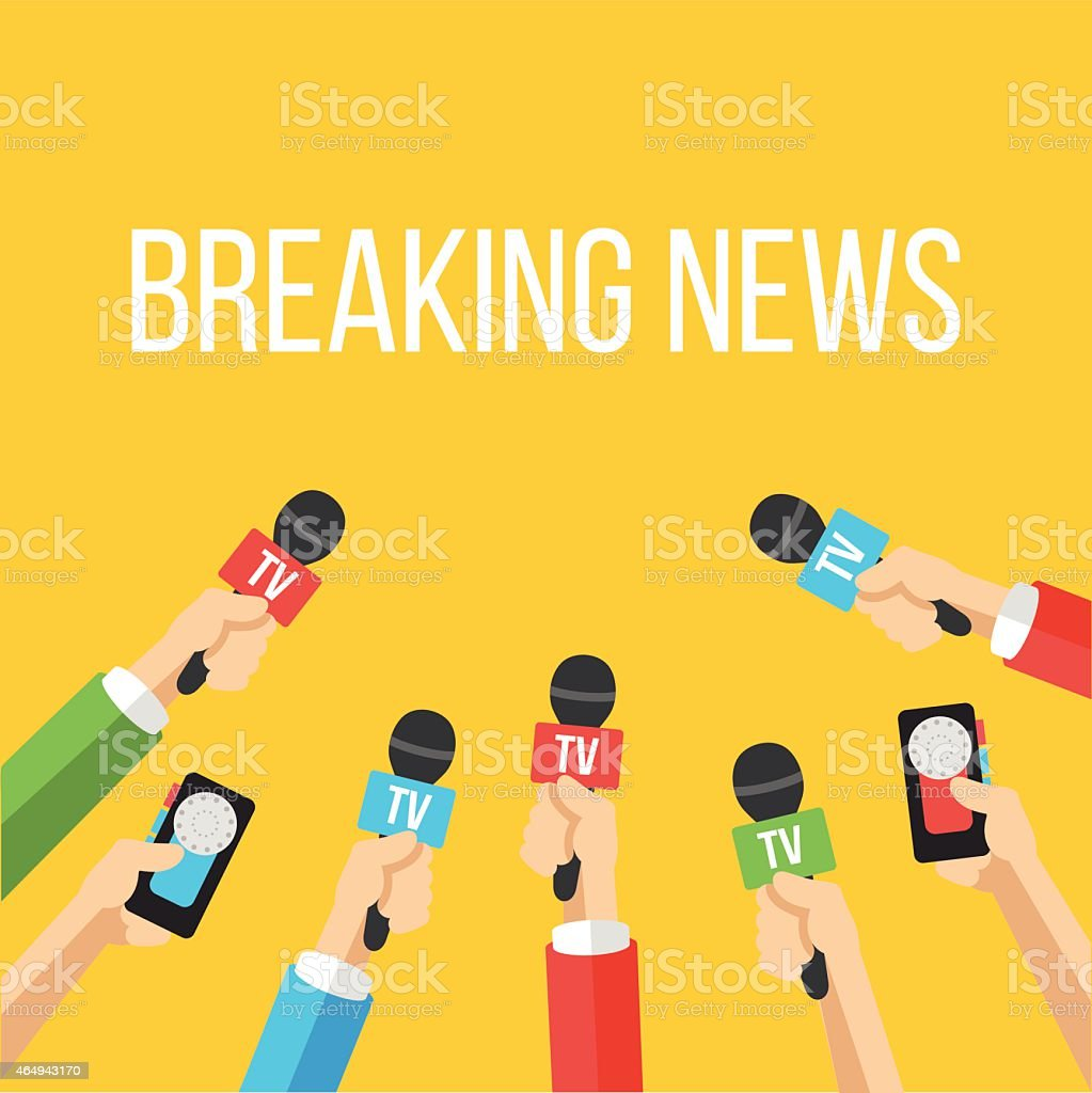 Breaking news flat style vector illustration vector art illustration