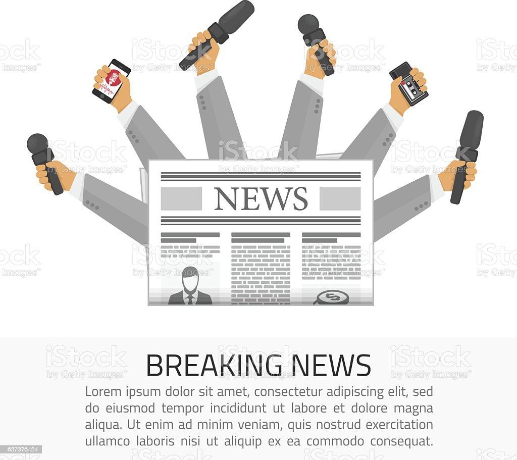 Breaking news illustration. vector art illustration