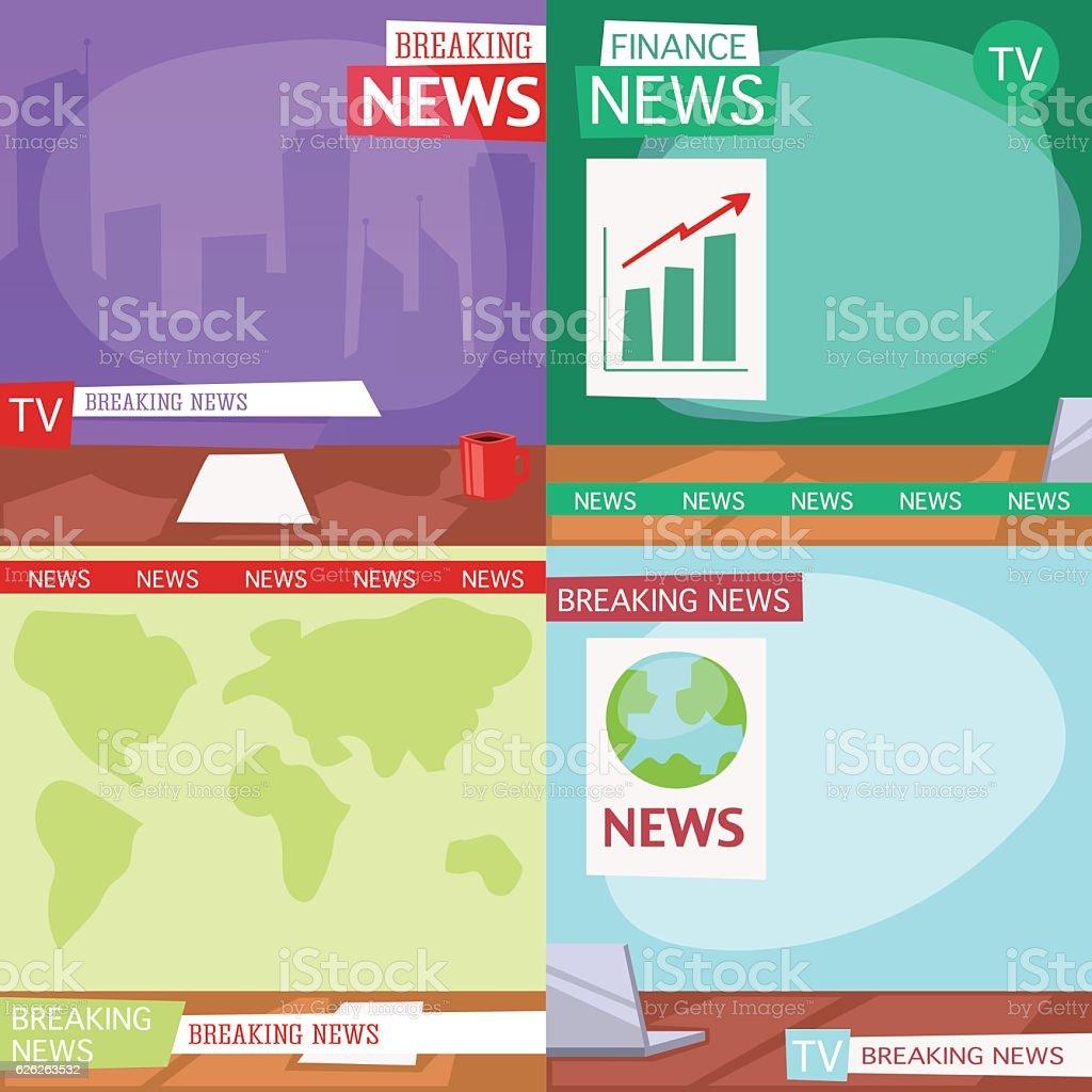 Breaking news people vector art illustration