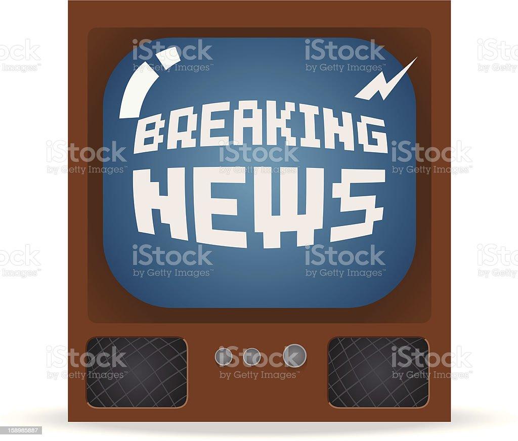Breaking News royalty-free stock vector art