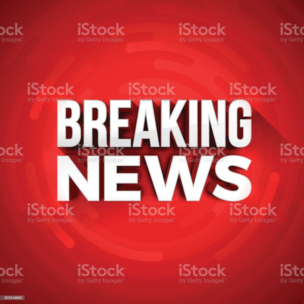 Breaking News vector art illustration