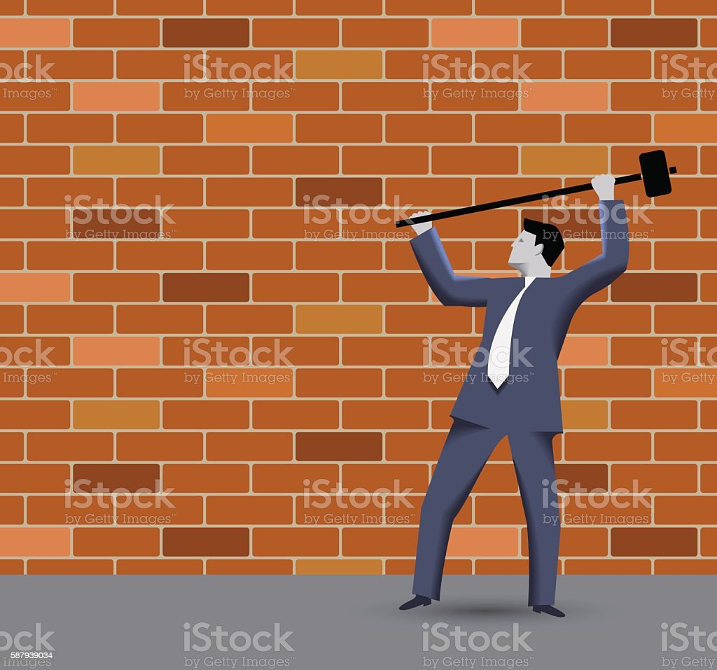 Breaking the rules business concept vector art illustration