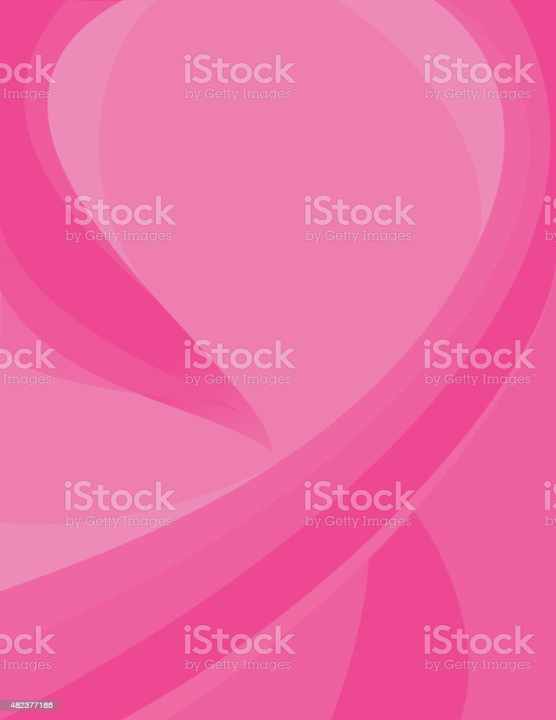 Breast cancer awareness abstract vector art illustration