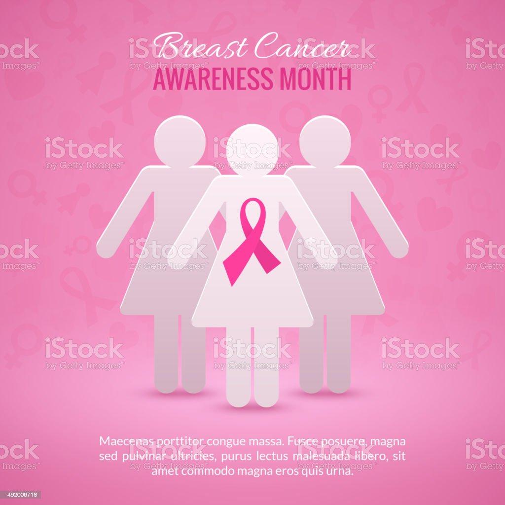 Breast Cancer Awareness Background vector art illustration