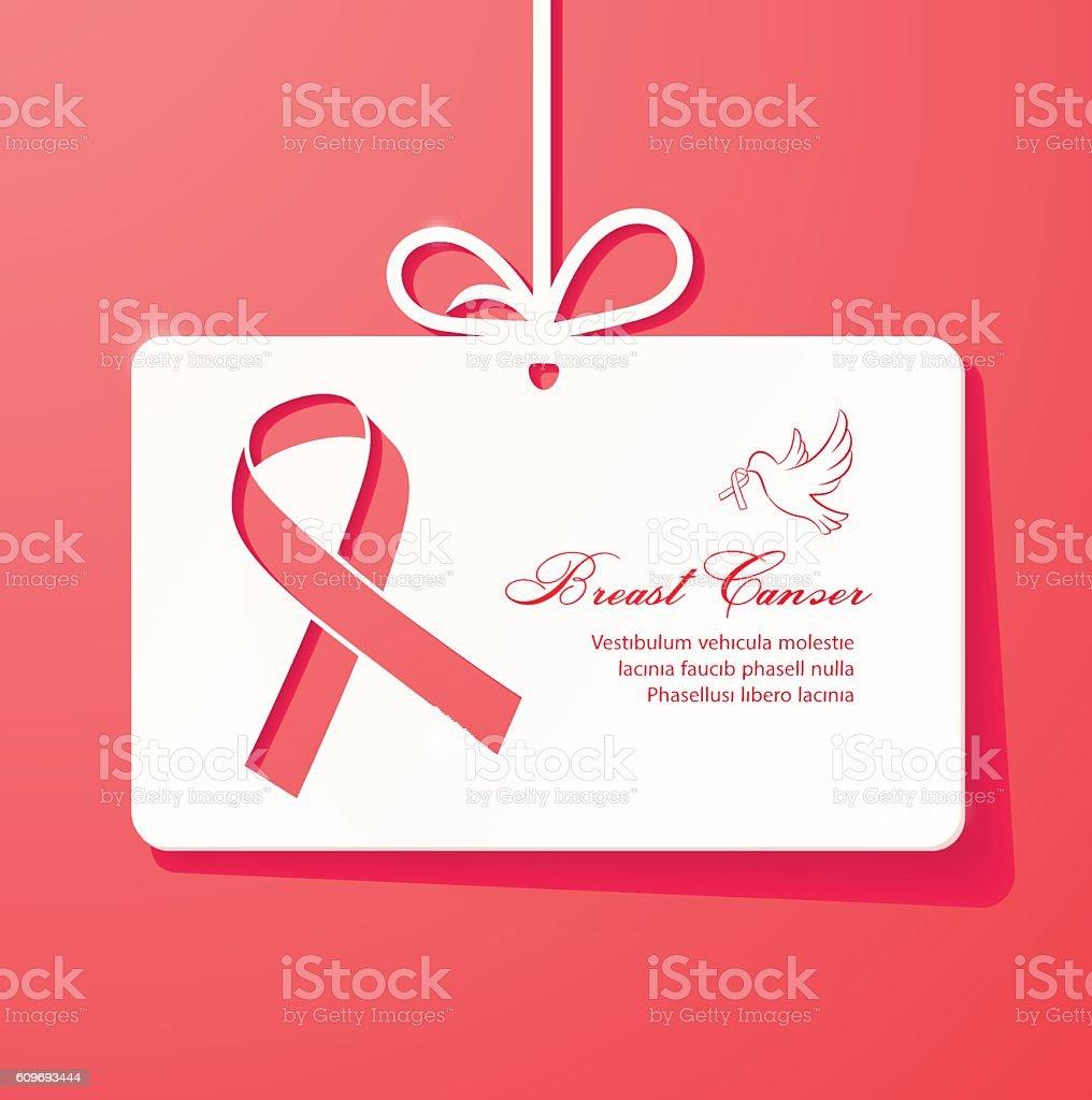 Poster design help - Breast Cancer Awareness Ribbon Card Poster Banner Design Royalty Free Stock Vector Art