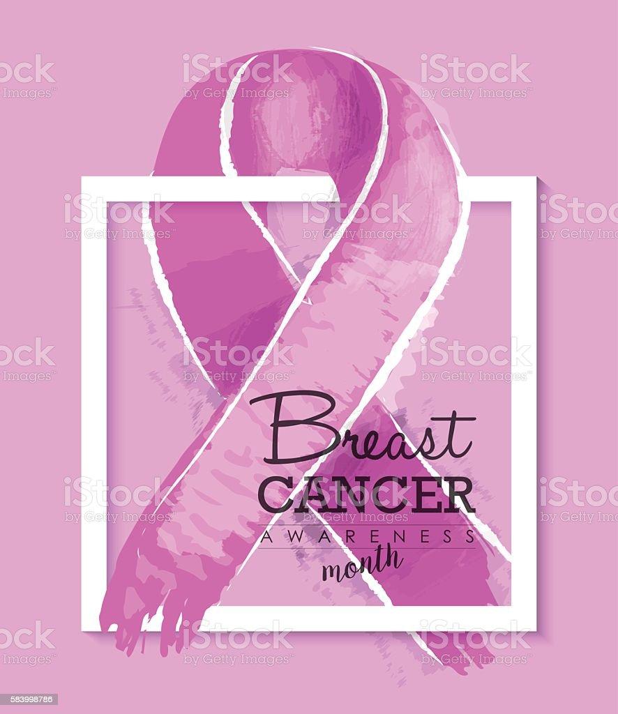 Breast cancer awareness ribbon illustration design vector art illustration