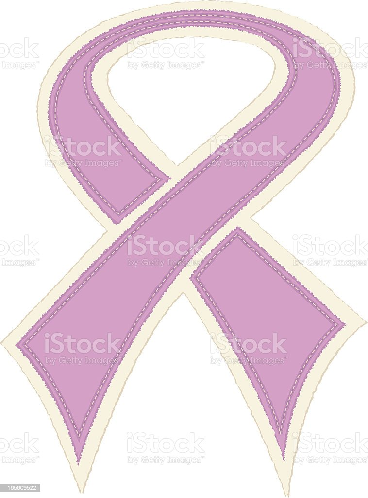 Breast Cancer Awareness Ribbon vector art illustration