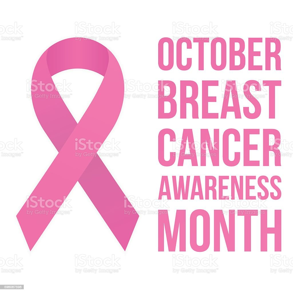 Breast cancer awareness vector art illustration