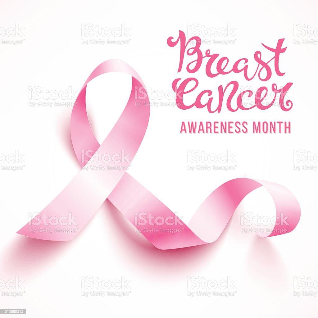 Breast cancer awareness vector art illustration