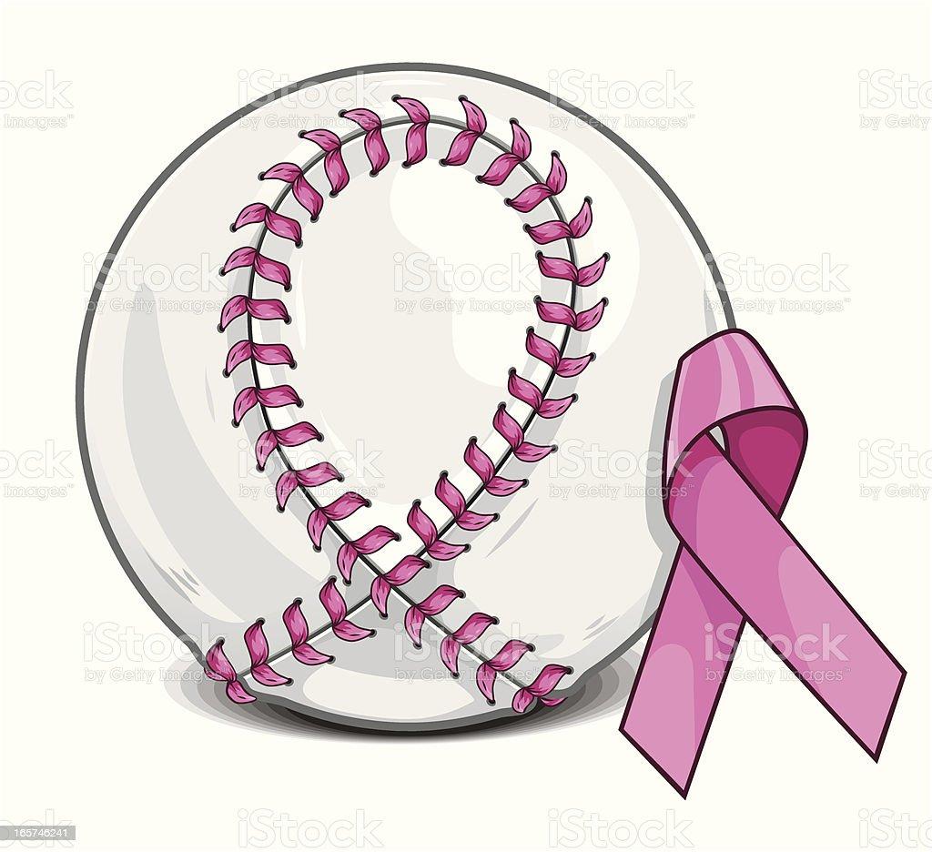 Breast Cancer Baseball royalty-free stock vector art