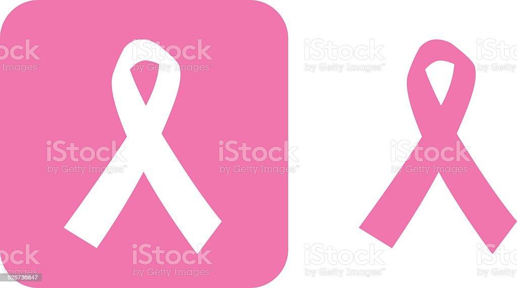 Breast Cancer Ribbon Icons vector art illustration