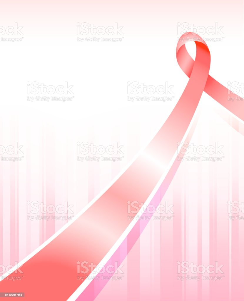 Breast cancer Ribbon on pink Background royalty-free stock vector art