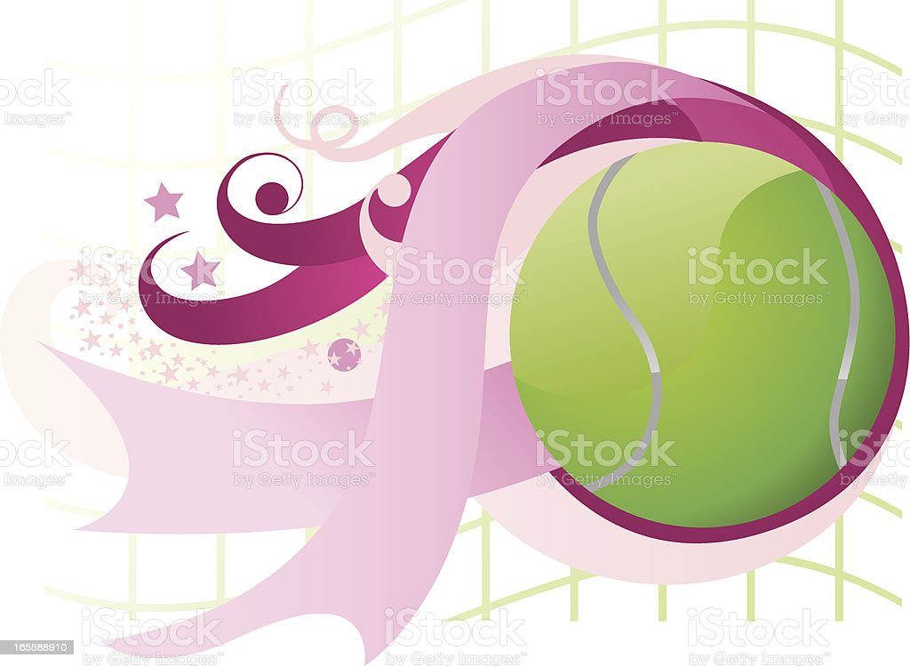 Breast cancer tennis ball royalty-free stock vector art