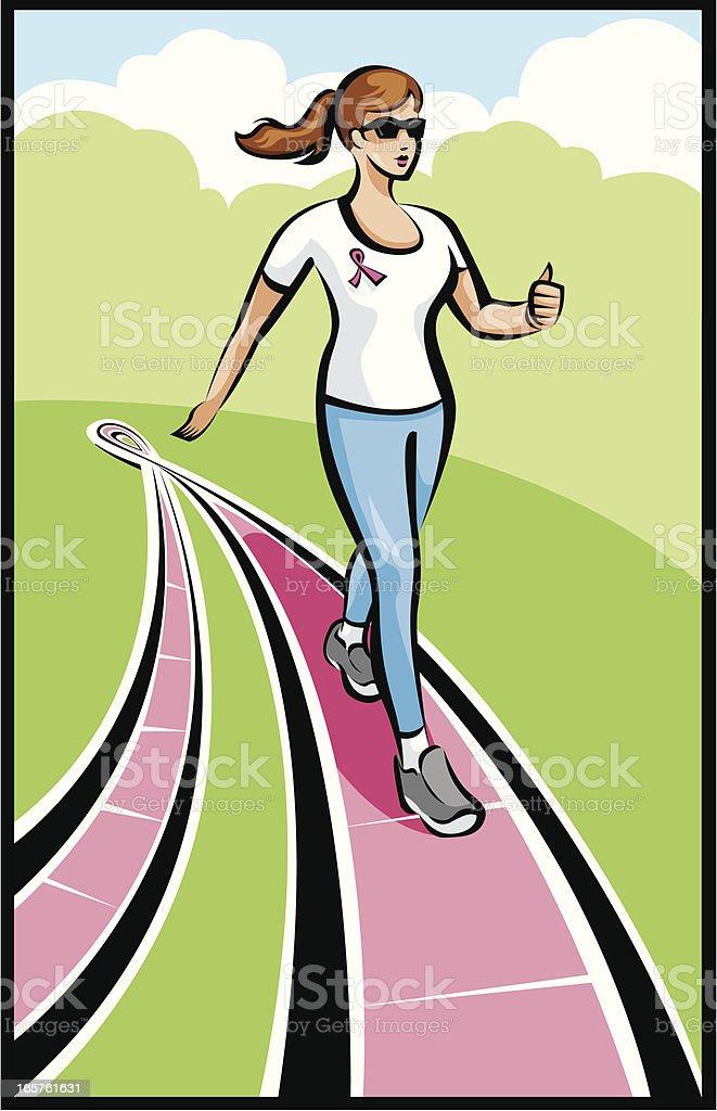 Breast Cancer Walk vector art illustration
