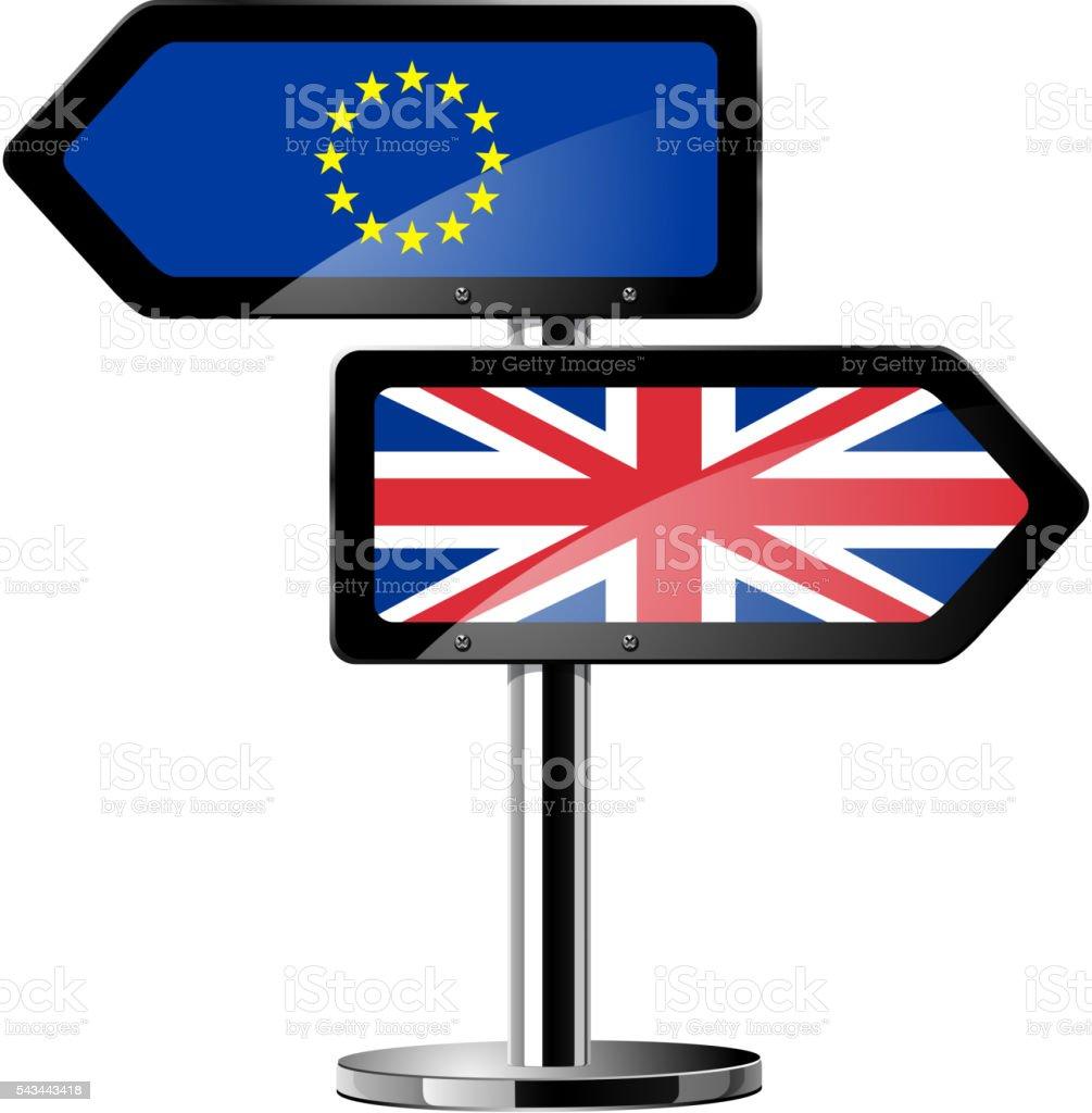 Brexit British referendum concept icons vector art illustration
