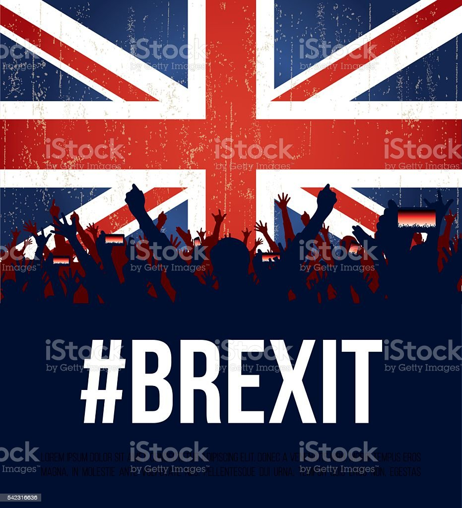 Brexit England flag vector art illustration