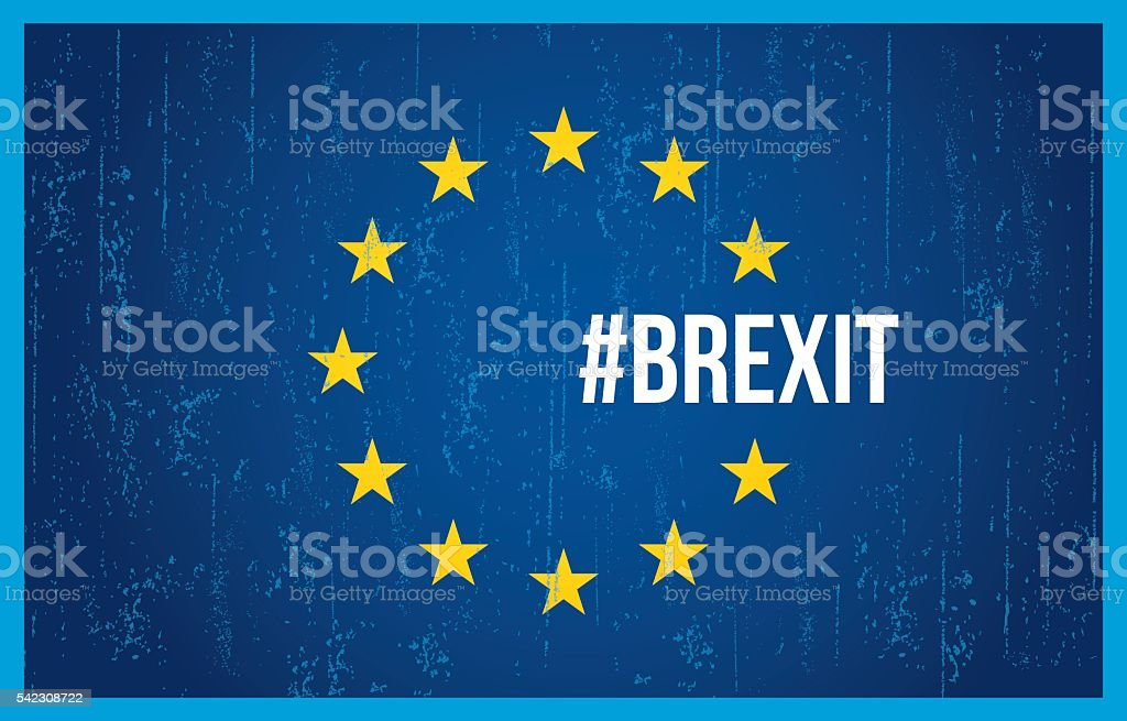 Brexit European flag vector art illustration