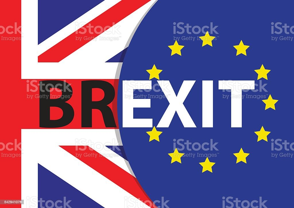 Brexit referendum UK withdrawal from EU vector art illustration
