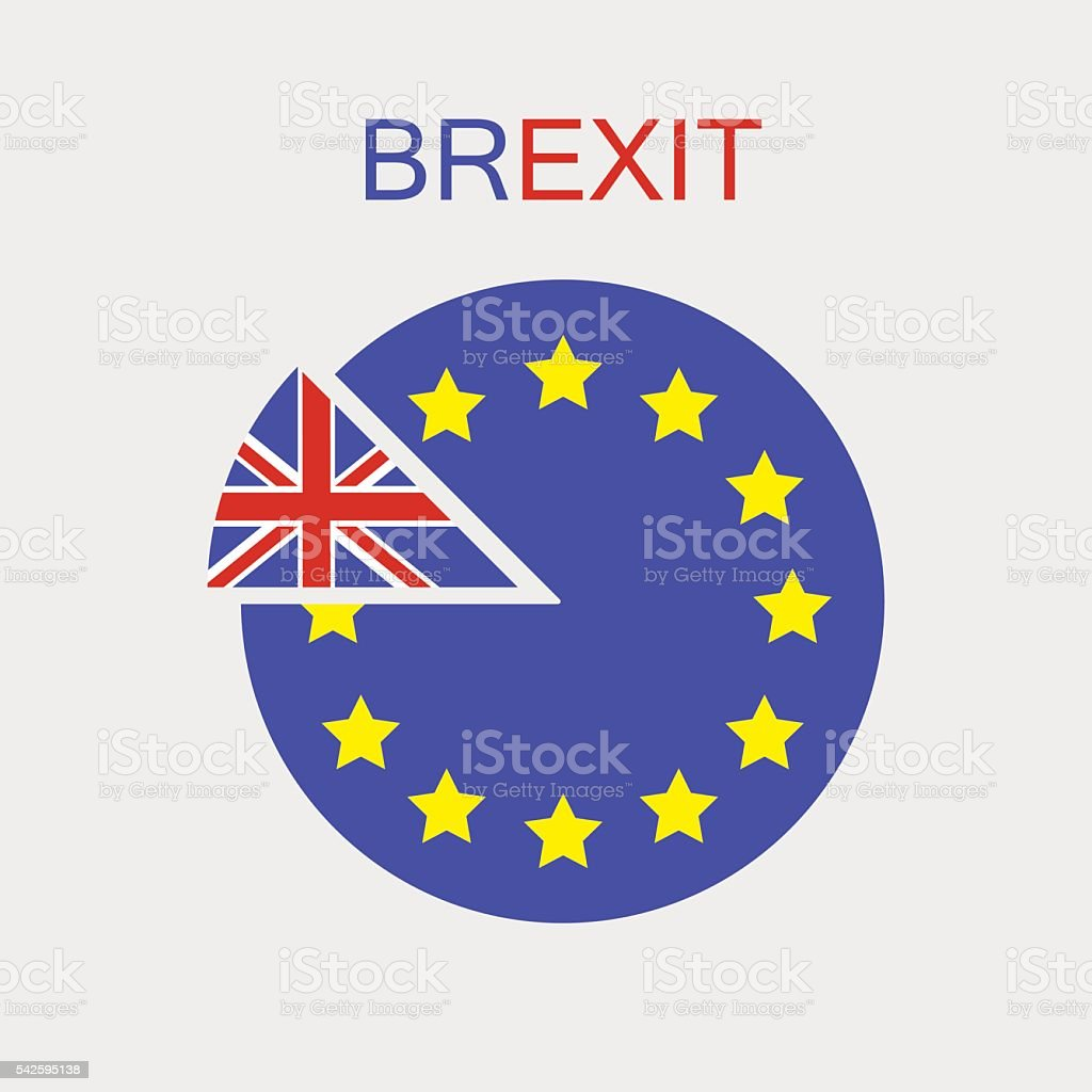 Brexit. UK exit from the EU. Vector. Isolated. vector art illustration