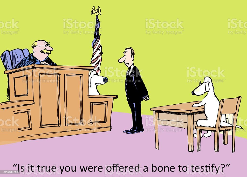 Bribery in the Courtroom vector art illustration