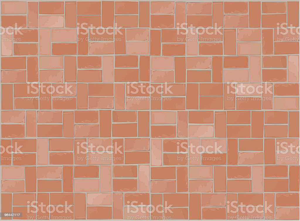 Brick Half Basket Pattern royalty-free stock vector art
