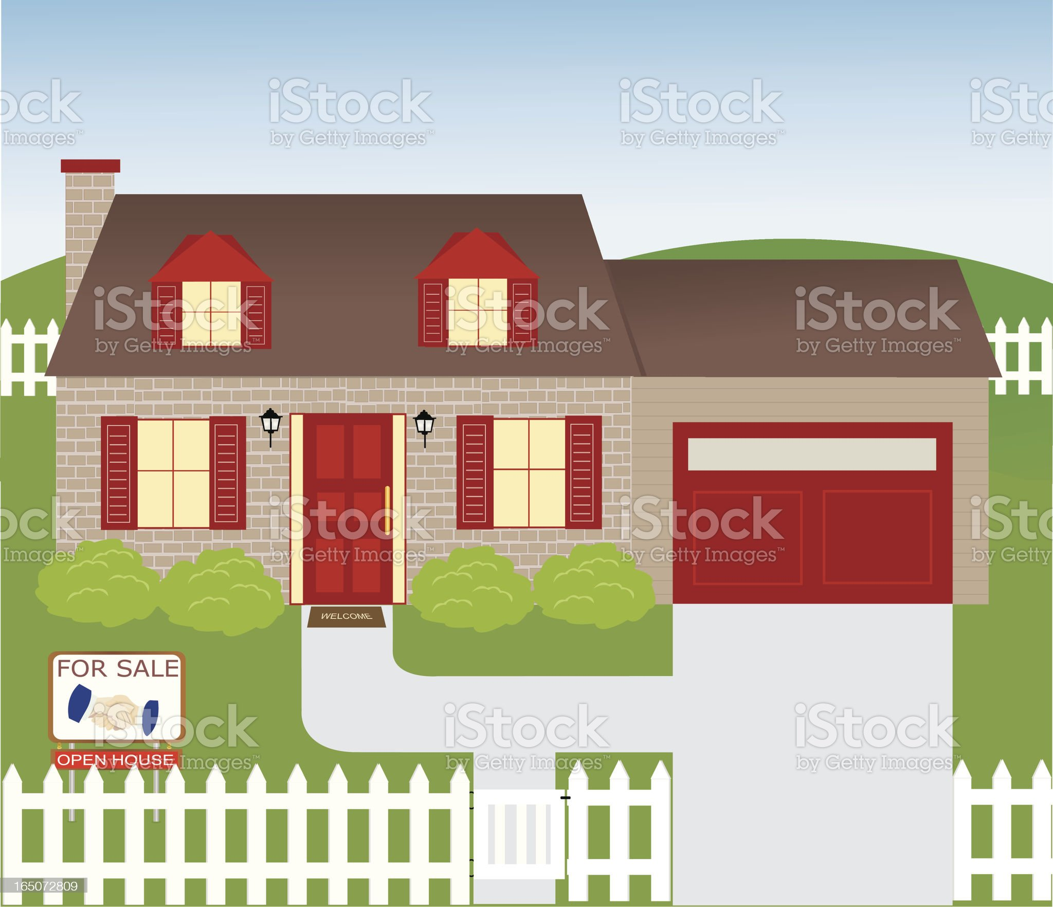 Brick House royalty-free stock vector art