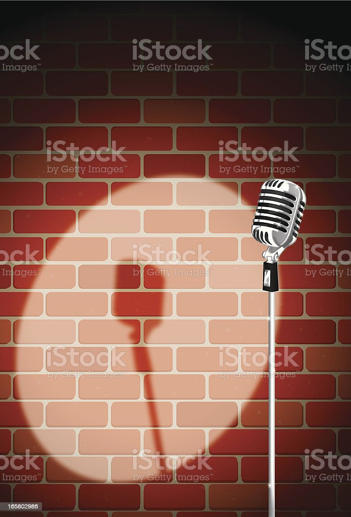 brick night club mic royalty-free stock vector art