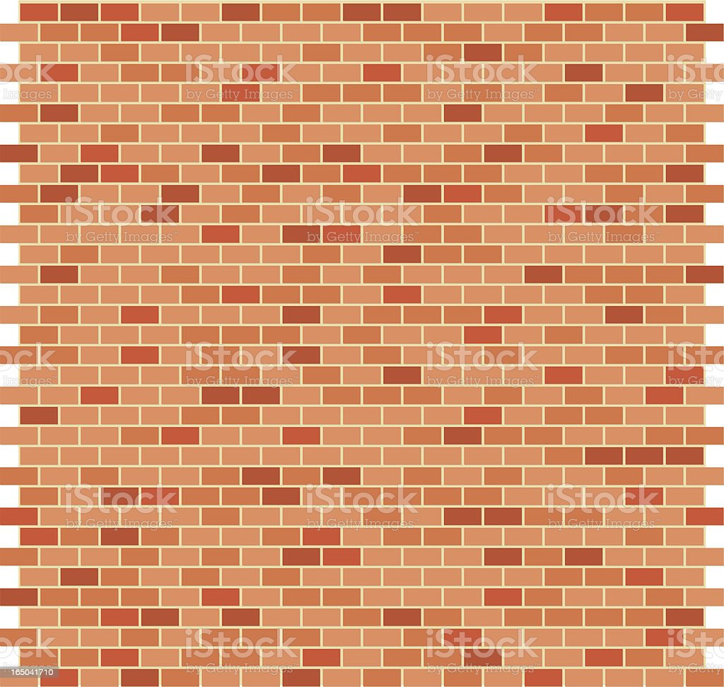 Brick Pattern Flat Orange royalty-free stock vector art
