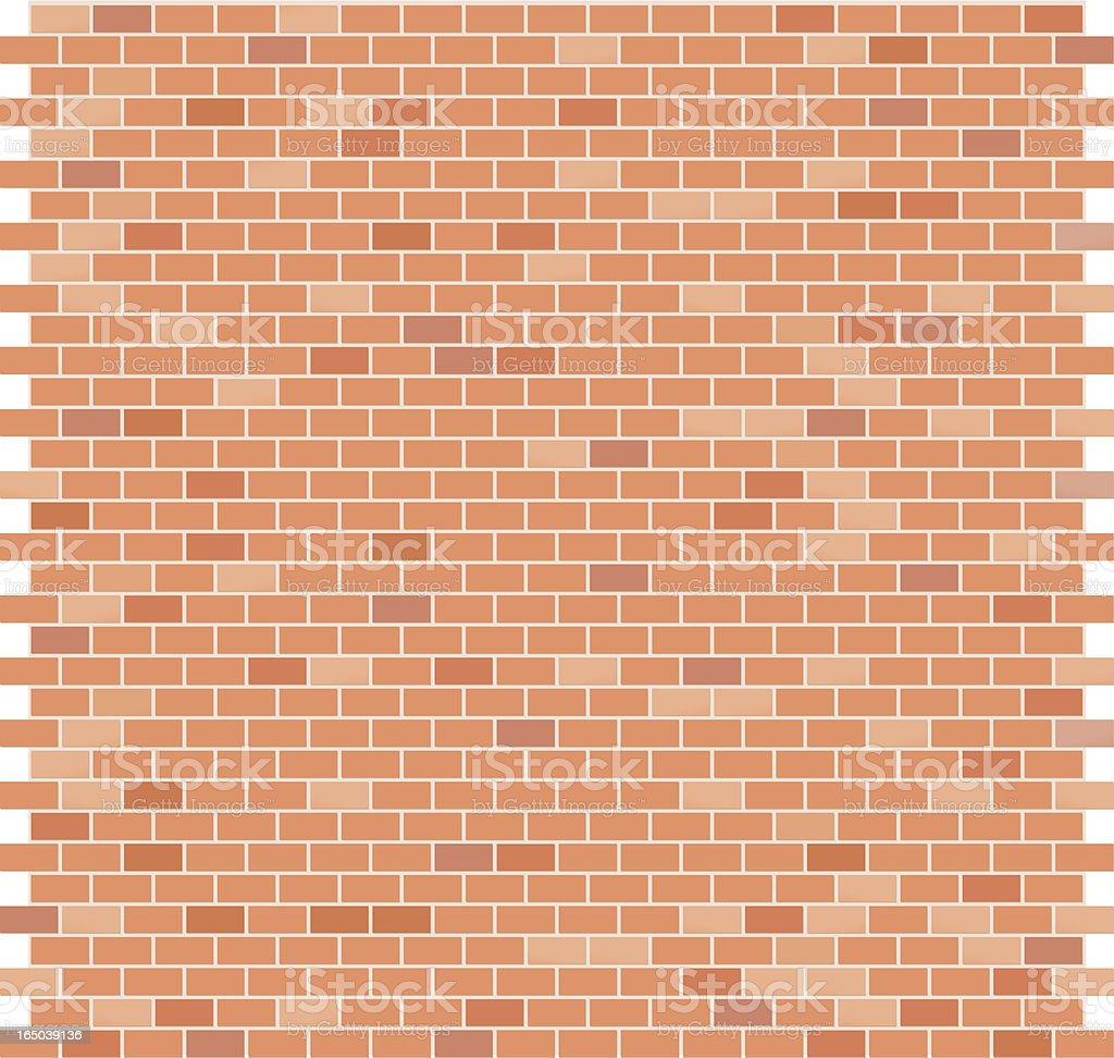 Brick Pattern - Flat Red vector art illustration