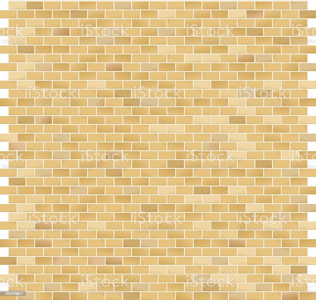 Brick Pattern Large Yellow royalty-free stock vector art