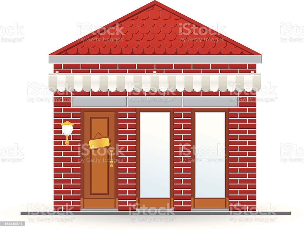 brick store icon vector art illustration