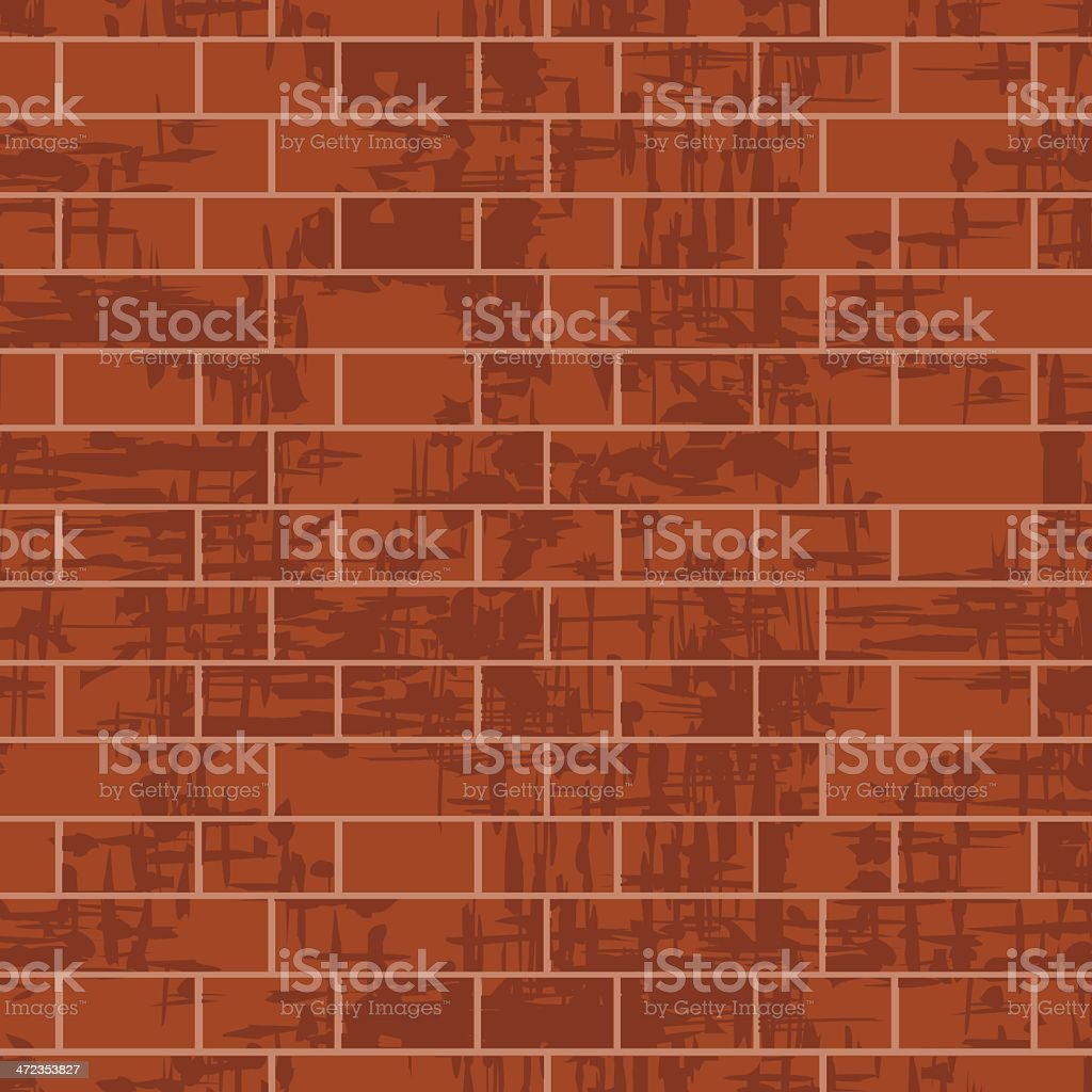 Brick wall background, vector illustration royalty-free stock vector art