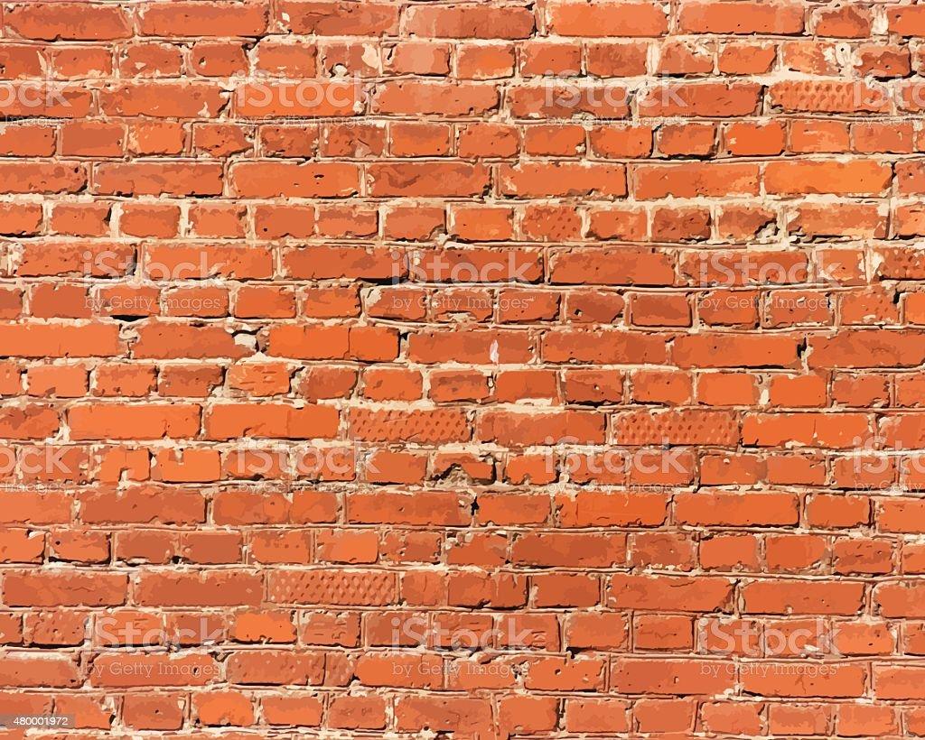 Brick wall detail texture vector art illustration