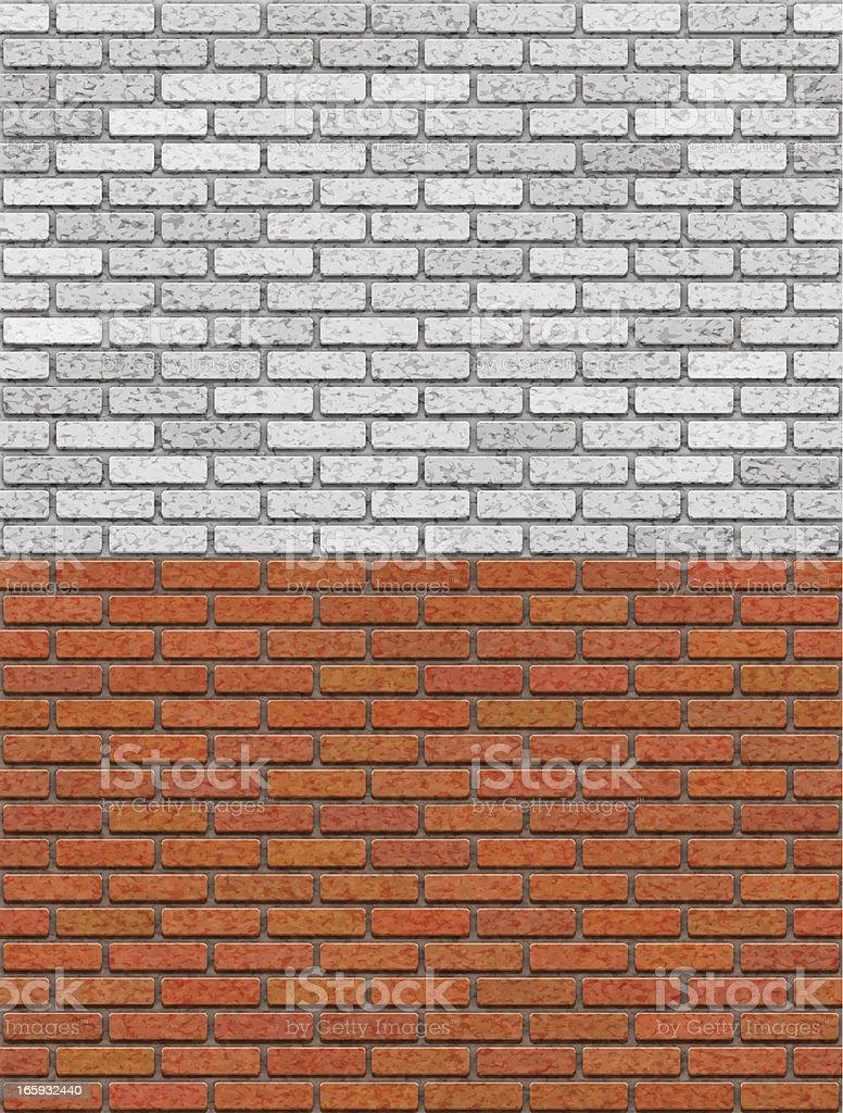 Brick Wall Seamless Pattern vector art illustration