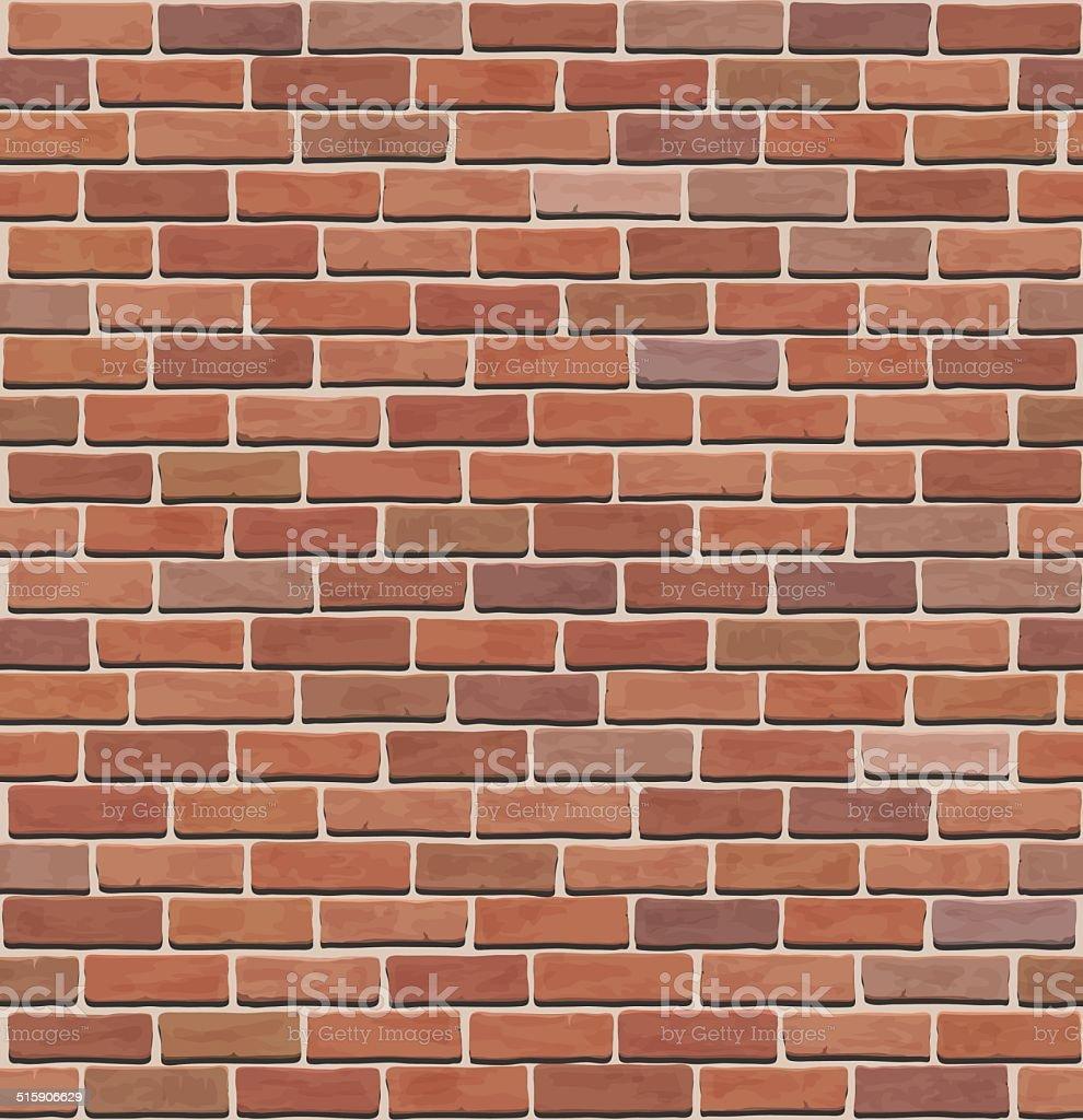 brick wall texture vector art illustration