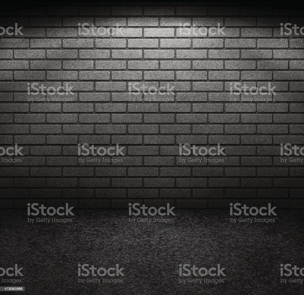 Brick Wall with Light vector art illustration