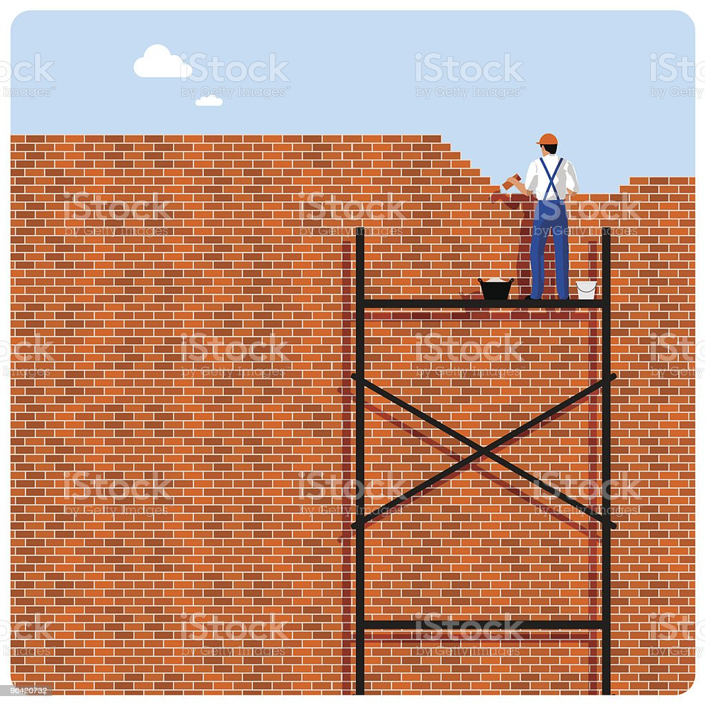 Brick wall-paper vector art illustration
