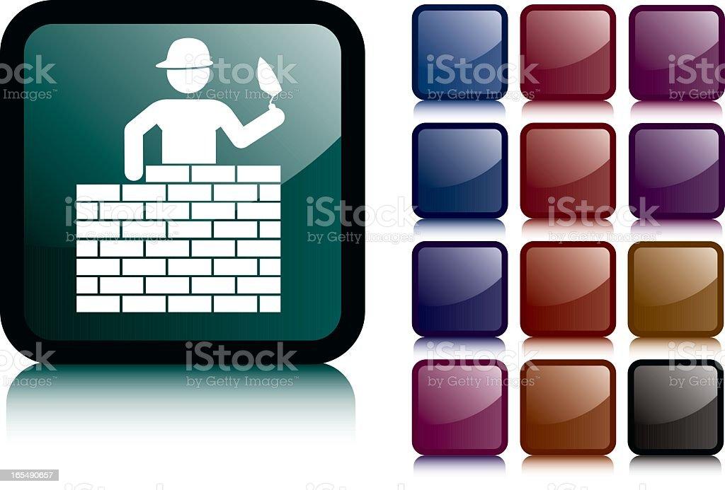 Bricklayer Dark Icon royalty-free stock vector art