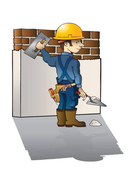 Laying Bricks Clip Art, Vector Images & Illustrations - iStock