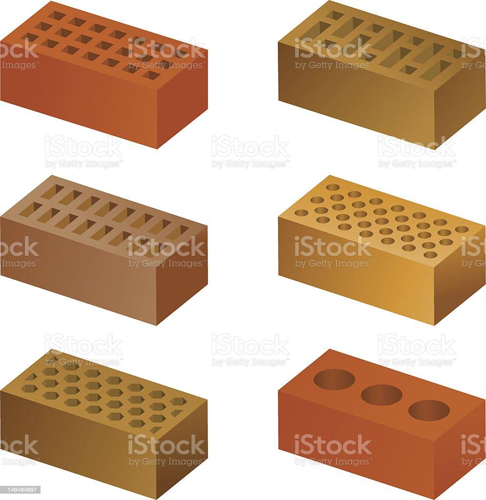 Bricks vector art illustration