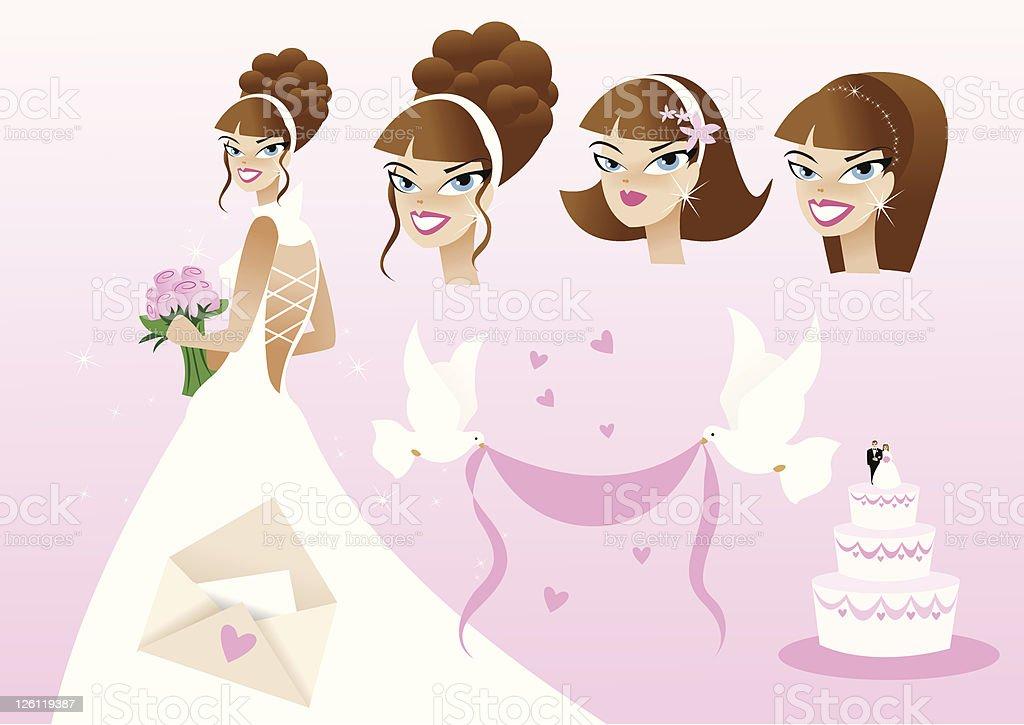 Bridal Pink Element art pack royalty-free stock vector art