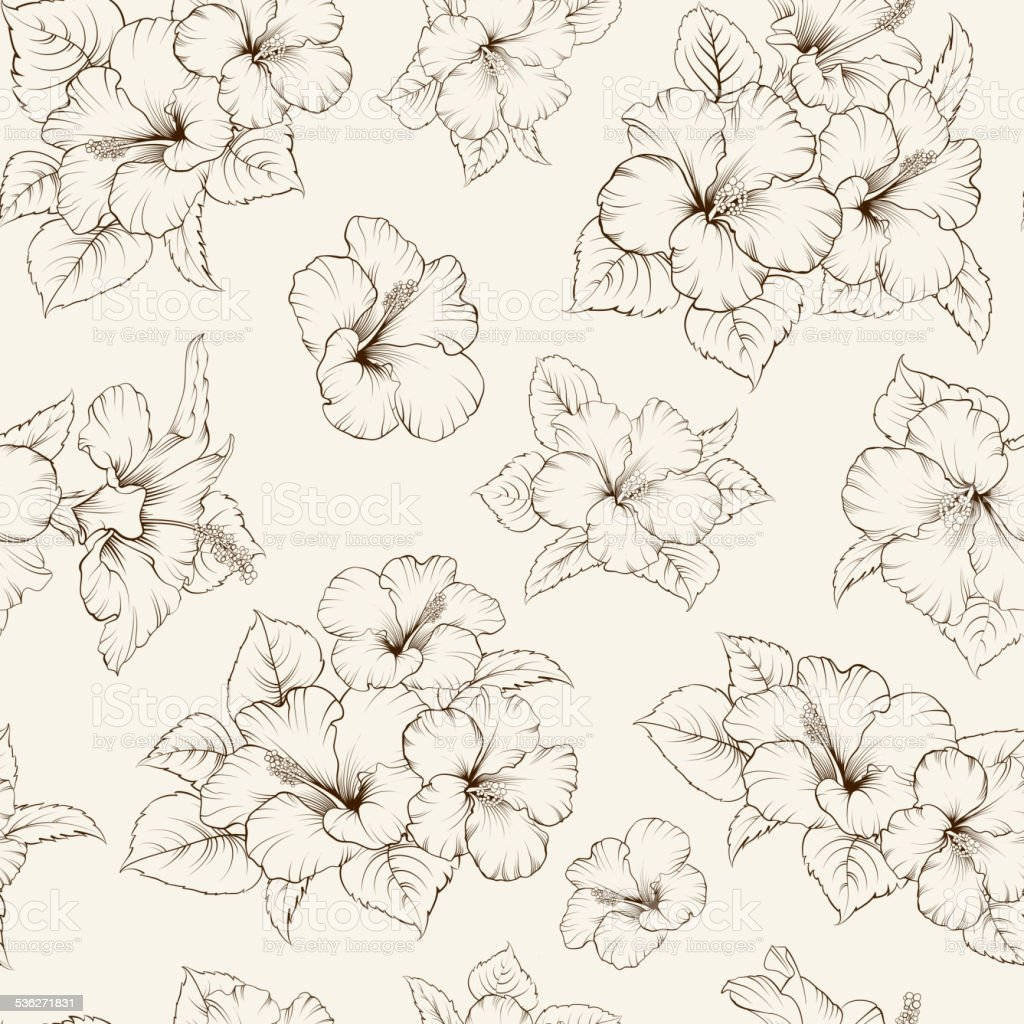 Bridal seamless pattern vector art illustration